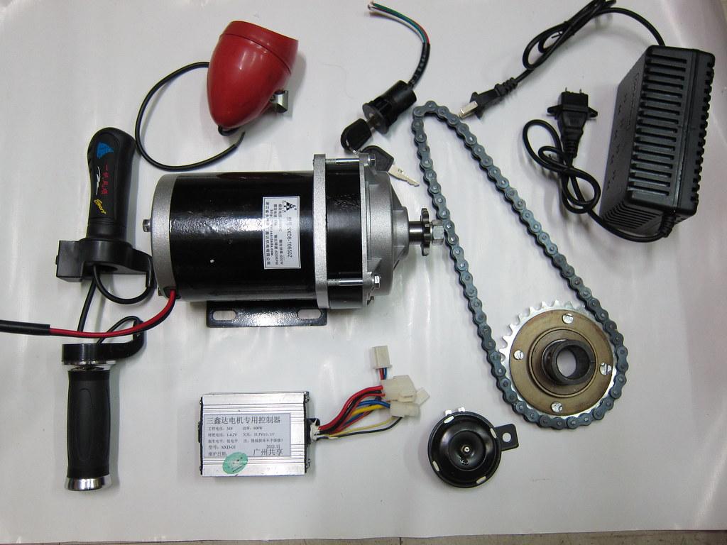 36v 48v 600w electric motorized e bike trike conversion kit for Freewheel sprocket for electric motor