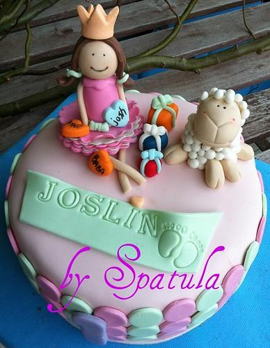 Kuzu ve minik kız doğum günü pastası by Demetin spatulasi