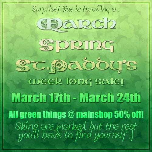 .{Rue}. GREEN sale!