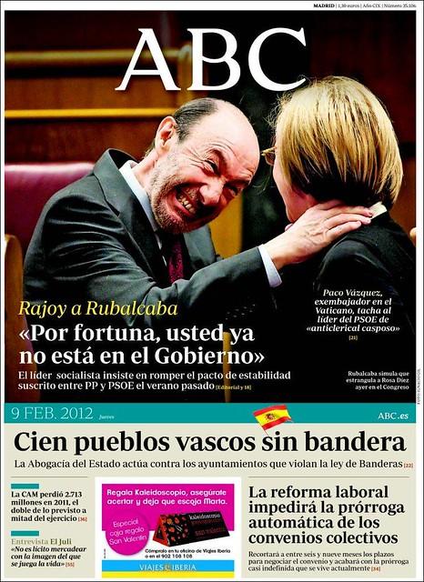 Portada de ABC de Rubalcaba y Rosa Díez