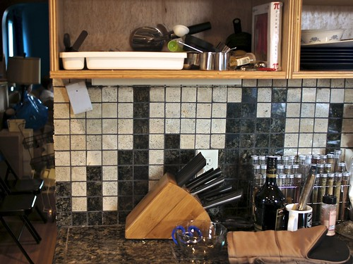 Pi Backsplash Closeup