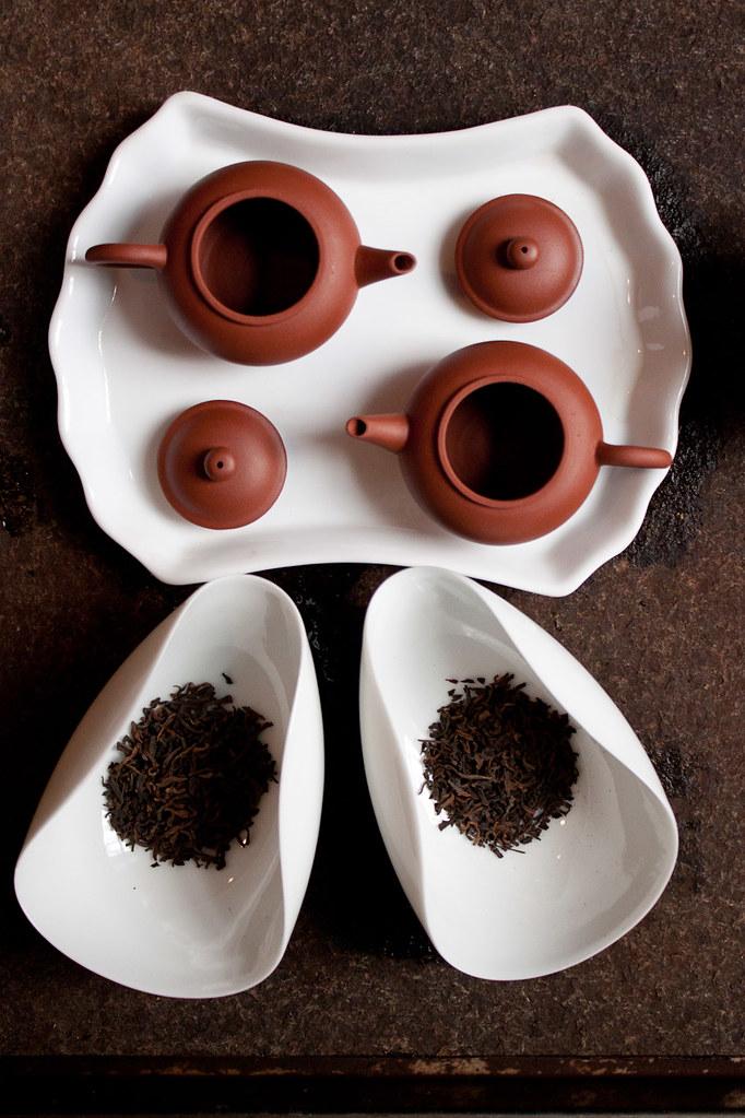 twin teapots
