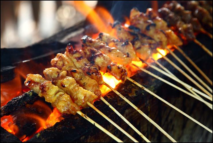 satay-on-grill