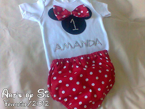 body e tapa fralda minnie by Art's by SiL
