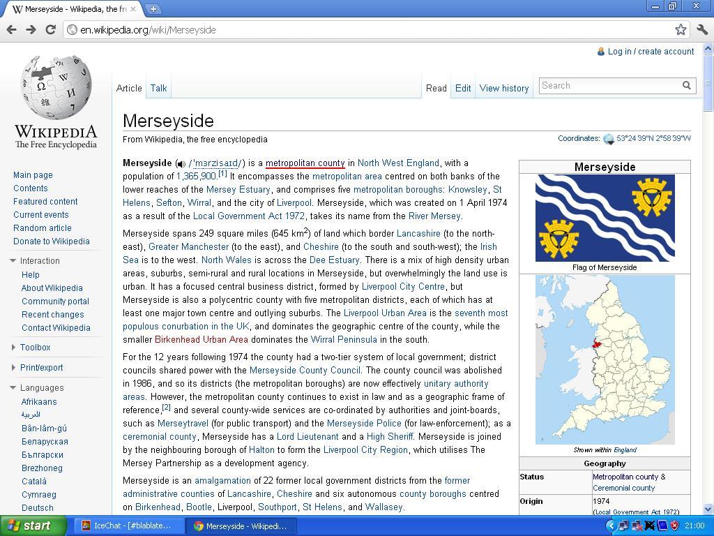 merseyside metropolitian county