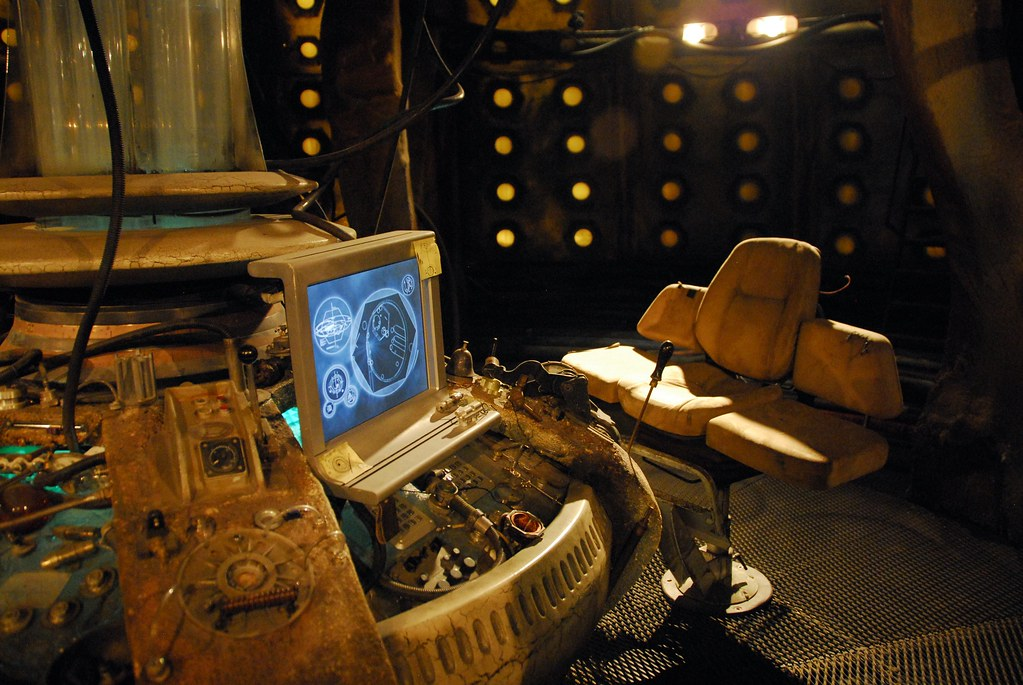 TARDIS console (and chair)