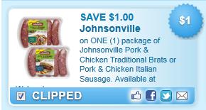 Johnsonville Pork & Chicken  Coupon