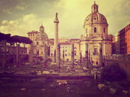 italy rome classic texture horizontal view column ruines