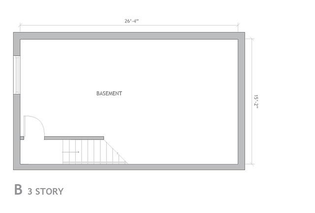 reNewBold - Basement of 3 Story Homes