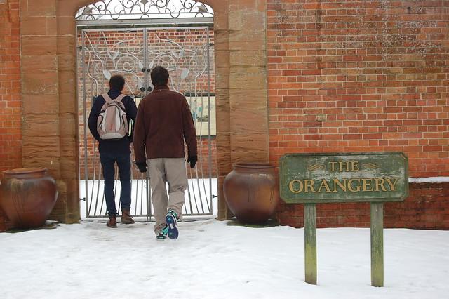 Orangerie, snowed under