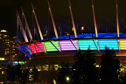 "BC Place Light Show for ""Illuminate Yaletown 2012"""