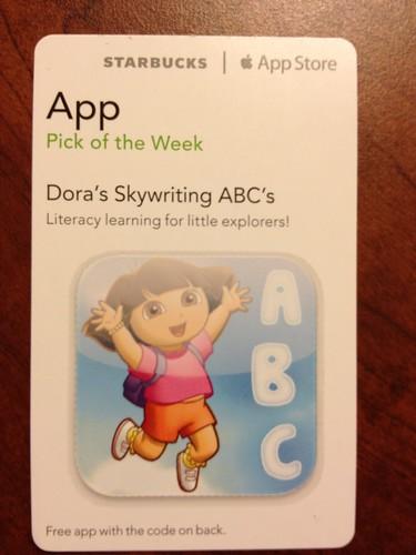 Starbucks iTunes Pick of the Week - Dora's Skywriting ABC's