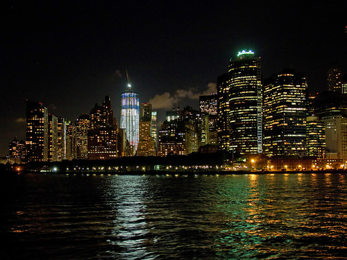 Manhattan from the Staten Island Ferry at Night 3c