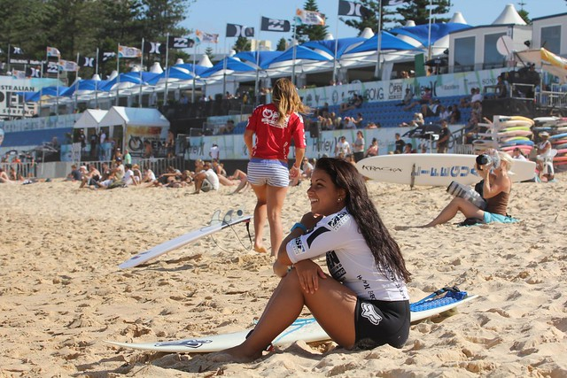 Women Surfers - Australian Open of Surfing  Manly Beach 2012