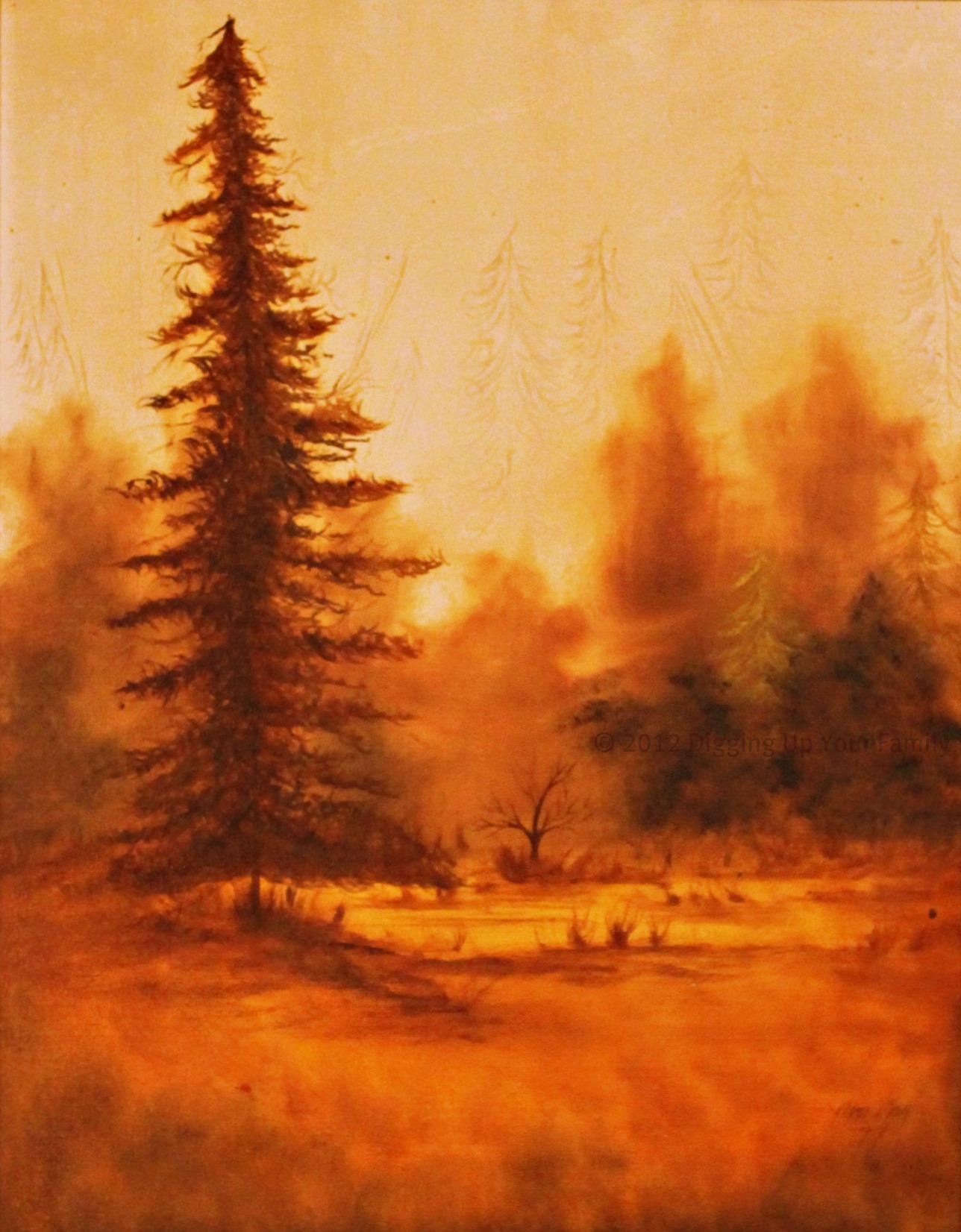 1977 Painting by Martha Lynn Hardwick (1941-2010)