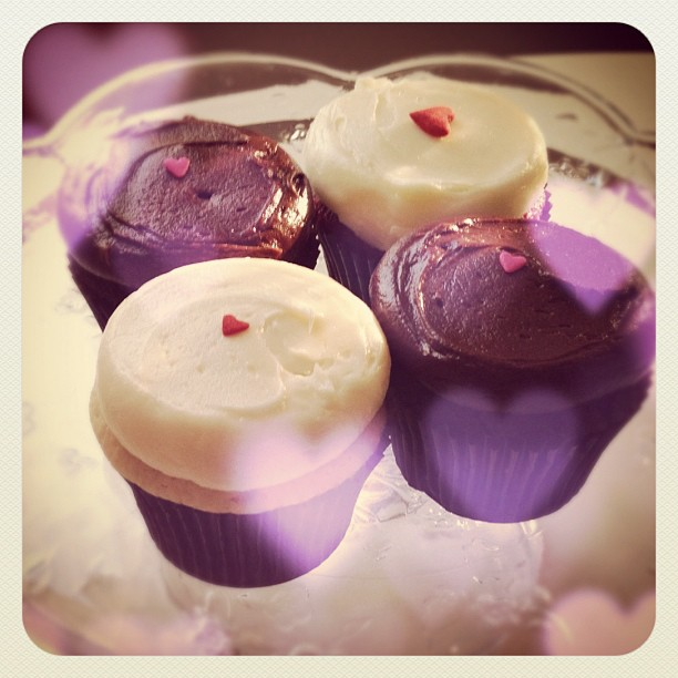 Hope you all had a wonderful Valentine's Day... xoxoxo's! {heart cupcakes from the husband}