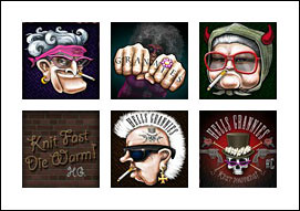 free Hells Grannies slot game symbols