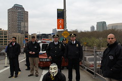 OWS - At the end of the Brooklyn Bridge march
