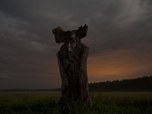 travel sky monument nature misty night devil lithuania clour