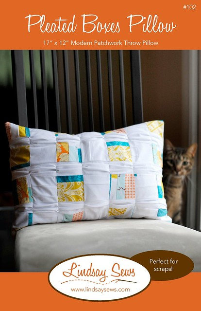 Pleated Boxes Pillow: Free Pattern