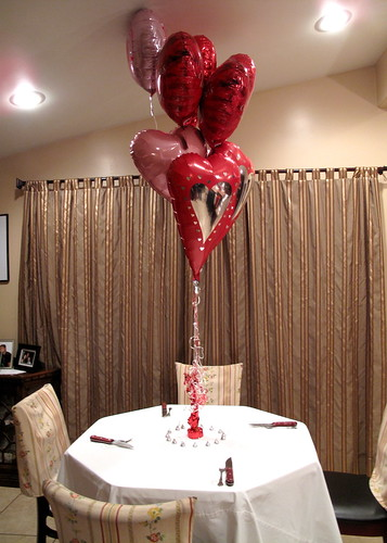 Lori's balloons were the centerpiece