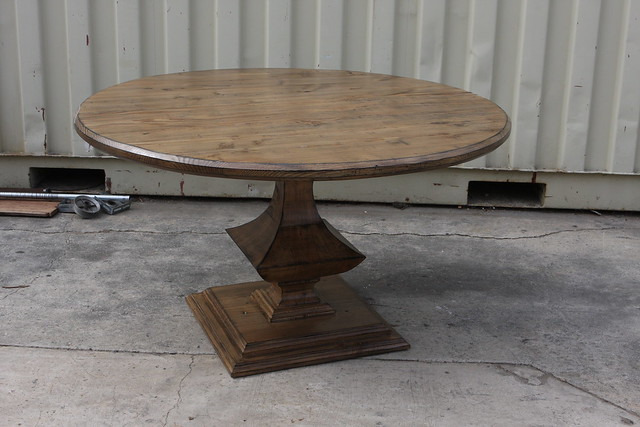 Reclaimed Wood Round Pedestal Dining Table Flickr