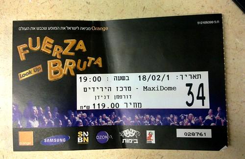Fuerza Bruta ticket