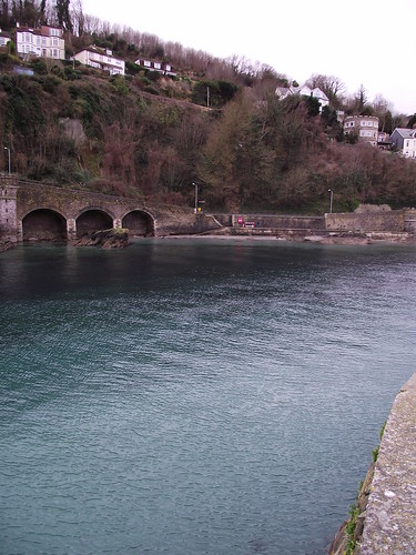 The crystal clear waters at Looe