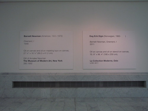 Dag Erik Elgin: Barnett Newman Onement One