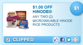 Hinode Microwavable Rice Products Coupon