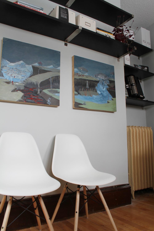 Eames Chairs & Book Shelves