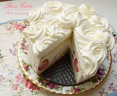 White Rose Cake <br>ʵ�������������-�Ի���� Click To Get Recipes & Ingredients