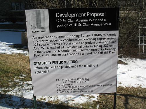 Development Proposal for 129 St. Clair Avenue West