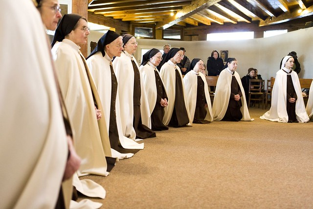 À l'heure de l'Eucharistie quotidienne. © Céline Anaya-Gautier
