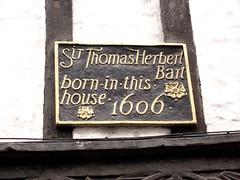Photo of Thomas Herbert black plaque