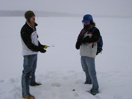 Pescando en el hielo: no pican.