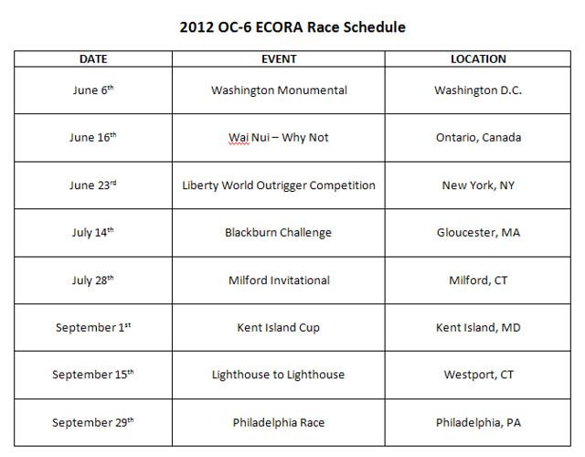 2012 Schedule
