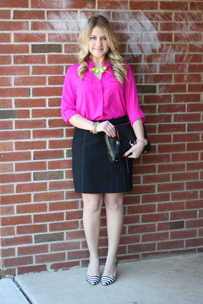 Vibrant Work Outfit