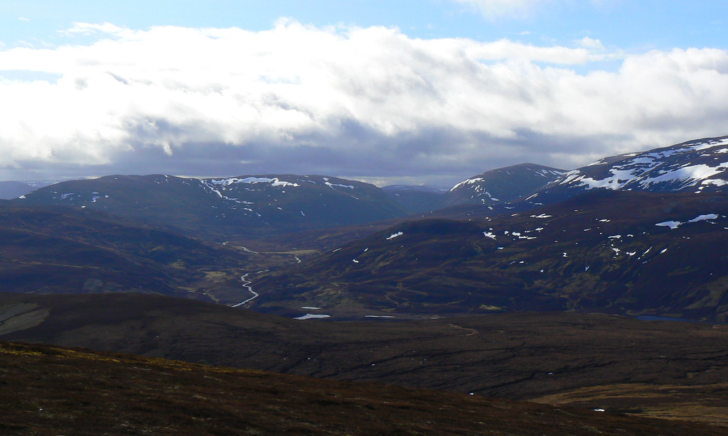 Looking west down Glen Gairn