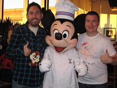 John, Chris, and Chef Mickey