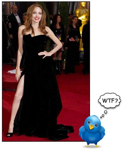 Angelina Jolie's Leg on Twitter