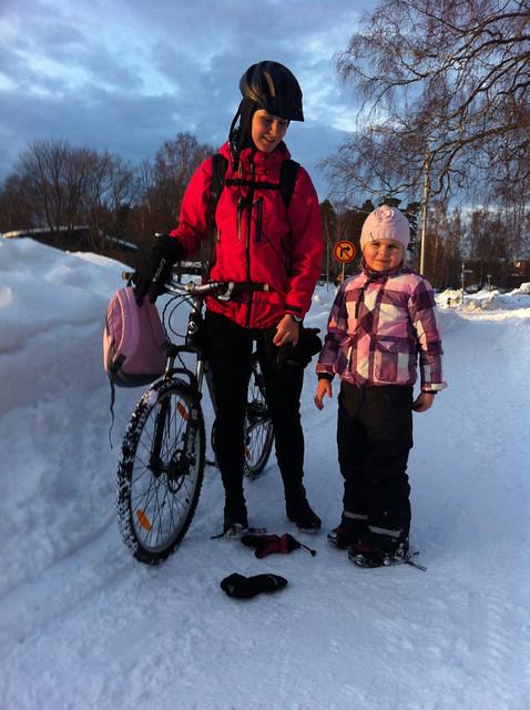 Työmatkapyöräily varusteet