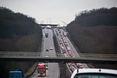 Embouteillage sur l'A31 en arrivant au Luxembourg