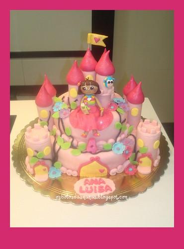 Bolo Castelo Princesa Dora e Boots by Osbolosdasmanas