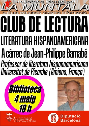 Club de lectura hispanoamericana @ 4 maig 18 h. by bibliotecalamuntala