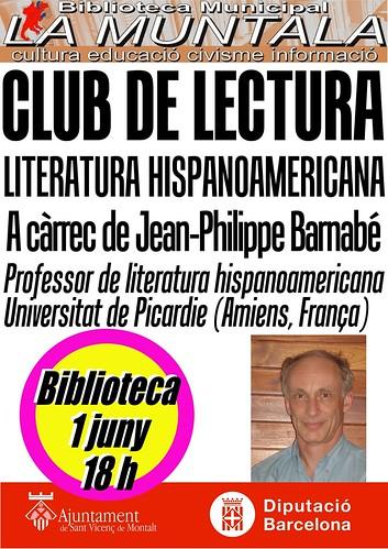 Club de lectura hispanoamericana @ 1 juny 18 h. by bibliotecalamuntala