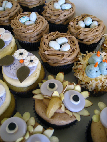 Vegan Nesting Cupcakes for a Baby Shower