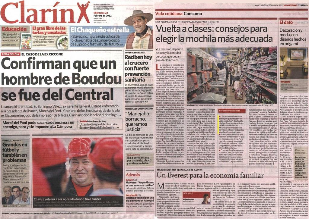 Diario Clarín 22-02-12