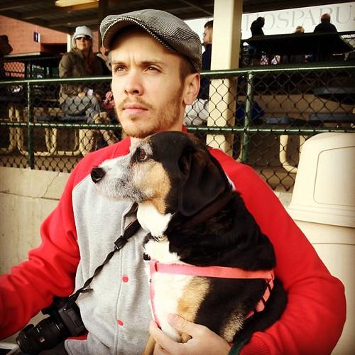 Kurt and Mule at Dog Day at the Park.