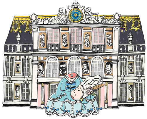 marie antoinette paris versailles illustration 2 by doublexuan